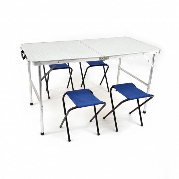 Комплект из стола и 4 табуретов