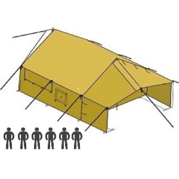Шестиместная брезентовая палатка